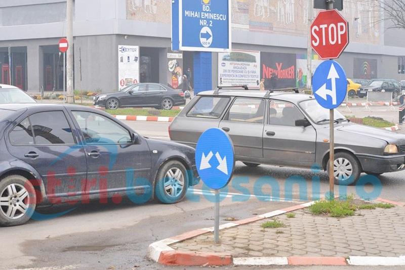 Nemulțumire de la desființarea unui sens giratoriu, din municipiul Botoșani
