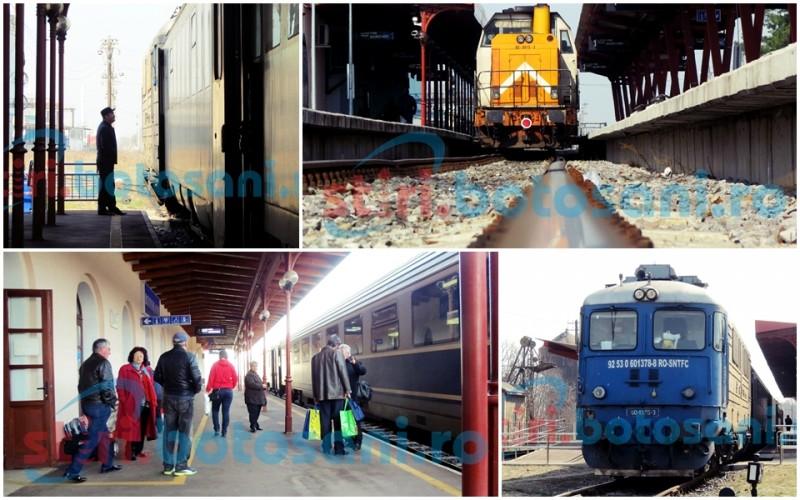Nervi în Gara Botoşani de la protestul angajaţilor feroviari! FOTO, VIDEO