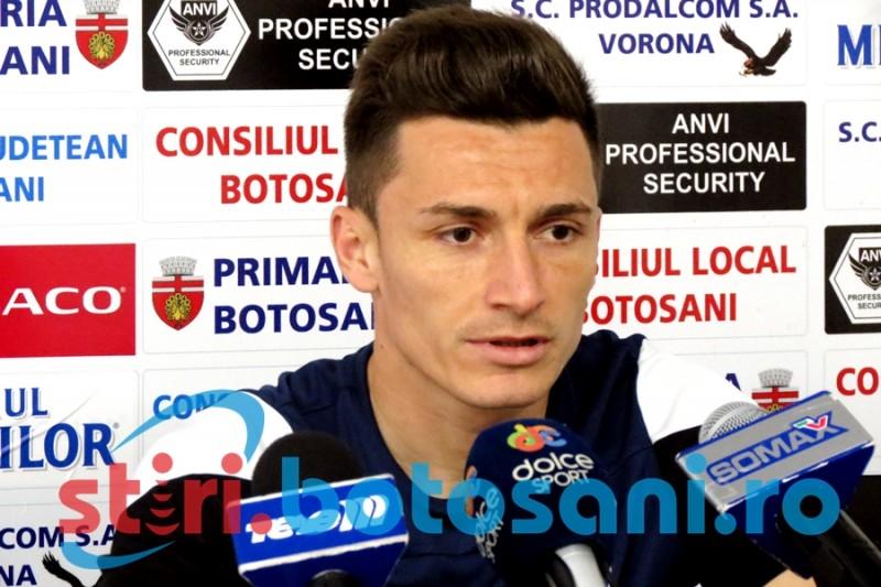 """Nicolae Musat spera sa debuteze la FC Botosani in meciul cu Petrolul: """"Ma simt pregatit. Trebuie neaparat sa incepem cu dreptul"""""""
