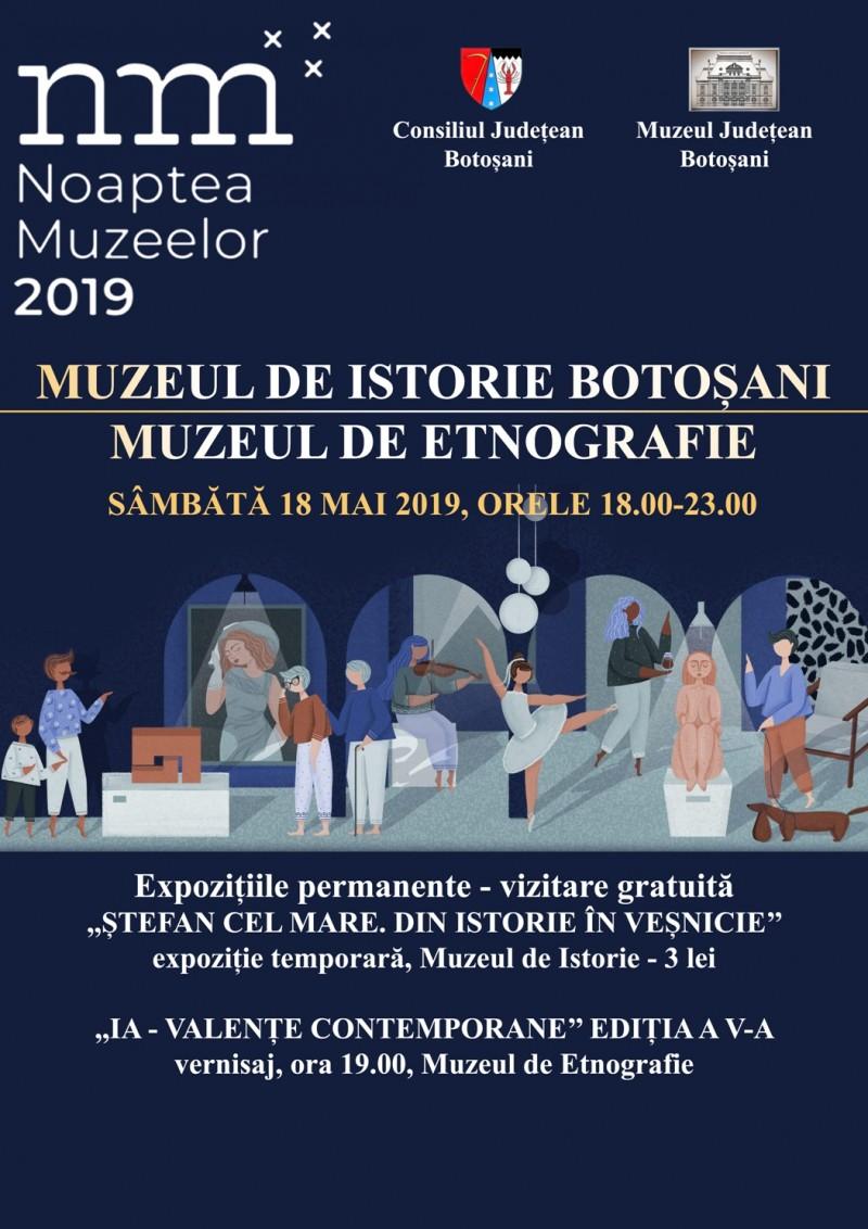 Noaptea Muzeelor 2019: Invitație pentru botoșănenii dornici de cultură!