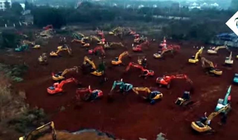 Noi așteptăm de 30 de ani o banală autostradă! China va construi în 6 zile un spital doar pentru pacienții afectați de virusul ucigaș! VIDEO