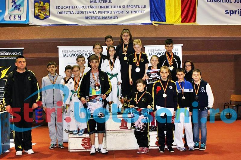 Noi medalii obtinute de sportivii botosaneni la un turneu de Taekwondo WTF, desfasurat la Bistrita - FOTO