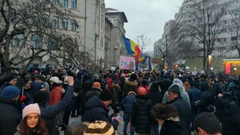 Nou protest impotriva amnistiei si gratierii. VIDEO!