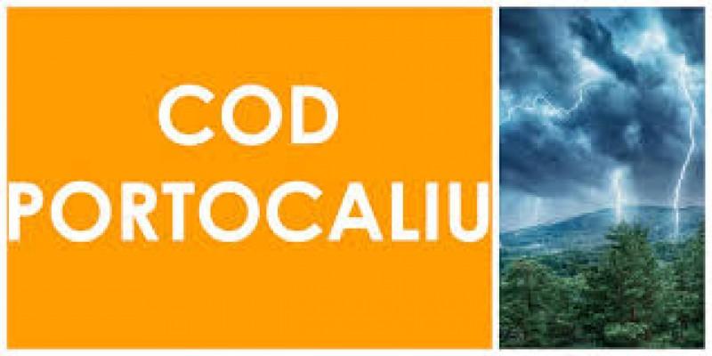 Nouă localități din județul Botoșani, sub COD PORTOCALIU de vreme rea