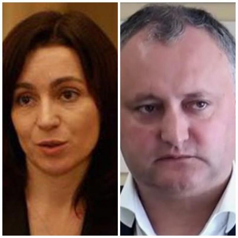 Noul presedinte al Republicii Moldova, decis peste doua saptamani: Socialistul Igor Dodon si pro-europeana Maia Sandu se vor confrunta in turul doi