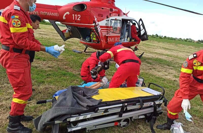 Nu a mai avut zile. Bătrâna de 82 de ani a murit înainte de a fi urcată în elicopterul SMURD