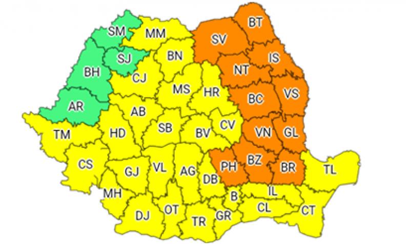 Nu scăpăm de ploi și vijelii: COD PORTOCALIU în județul Botoșani!