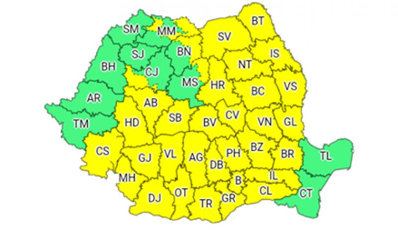Nu vă lăsați umbrelele acasă: Un nou COD GALBEN pentru județul Botoșani!