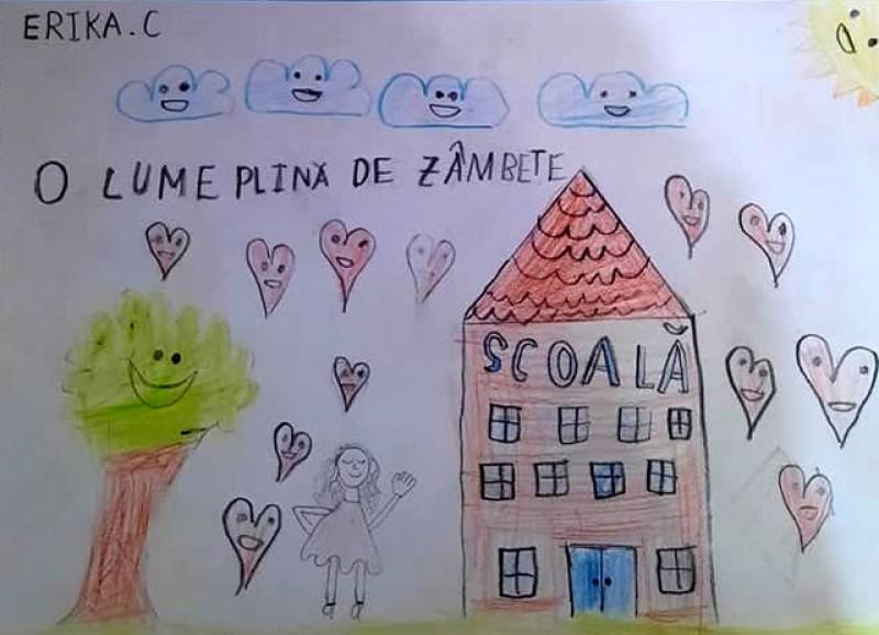 O elevă de 7 ani, de la Botoșani, despre coronavirus: Ne-ai luat multe, dar nu ne poți lua zâmbetul și oamenii dragi!