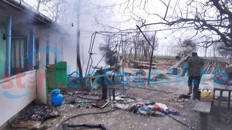 O femeie a murit într-un incendiu, la Hănești! FOTO