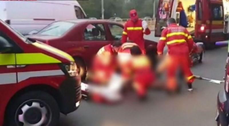 O femeie însărcinată a fost rănită într-un accident rutier, în Dorohoi