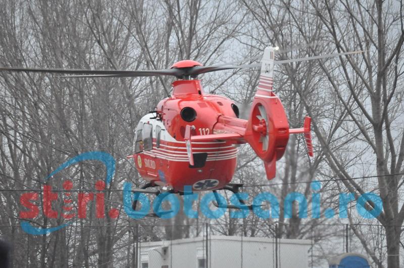 O nouă solicitare pentru elicopterul SMURD la Botoşani