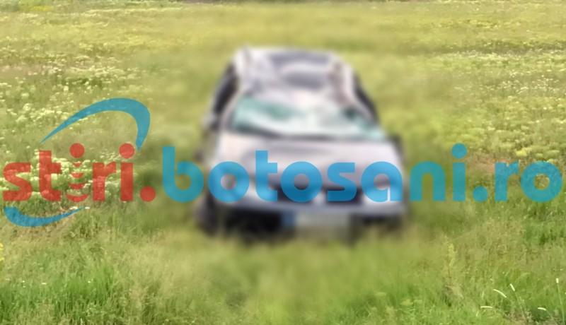 O tanara de 18 ani s-a rasturnat cu masina la Hlipiceni! FOTO
