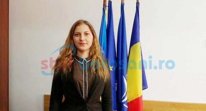 O tânără de 22 de ani, unul dintre cei mai activi voluntari din cadrul ISU Botoșani