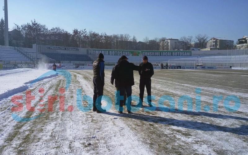"""Oficialii Craiovei, inaintea meciului cu FC Botosani: """"Daca e inghetat, refuzam sa intram pe teren"""""""