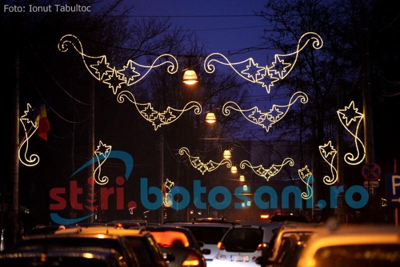 Figurine 3D în Parcul Mihai Eminescu, la iarnă. Când se aprinde iluminatul festiv!