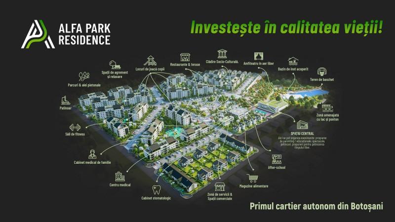 (P) Alfa Park Residence - creează premisele pentru cartierul cu cei mai buni indicatori de calitate a vieții din Botoșani