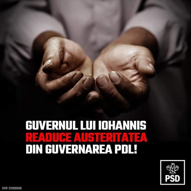 (P) Comunicat PSD: Cu PNL la Guvernare, un val puternic de austeritate se va abate asupra județului Botoșani!