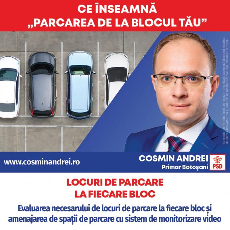 """(P) Cosmin Andrei a lansat programul """"Parcarea de la blocul tău"""" împreună cu proiectul """"Parking supraetajat la Botoșani"""""""