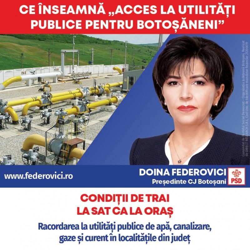 """(P) Doina Federovici: """"La Consiliul Județean voi continua programele de asfaltări și extinderi de utilități publice inițiate de PSD pentru fiecare localitate"""""""