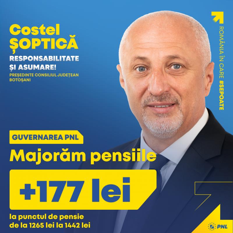 (P) PNL Botoșani: Pensionarii botoșăneni primesc pensii majorate