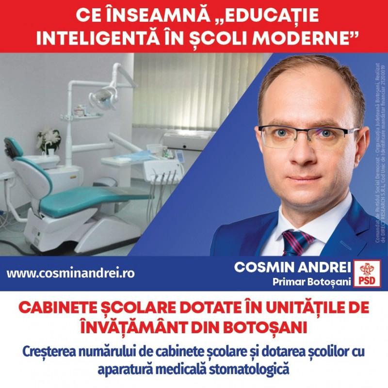 (P) PSD Botoșani: Cabinete medicale școlare dotate în unitățile de învățământ din Botoșani și controale gratuite pentru botoșănenii din comunitățile vulnerabile