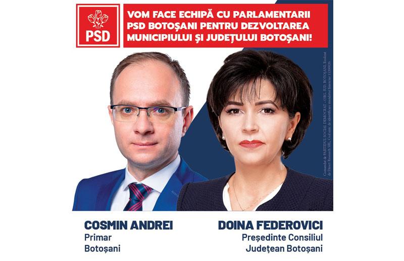 (P) PSD Botoșani: Veniți pe 6 decembrie să votați PSD, singurul partid care oferă siguranța pentru un trai mai bun! Guvernarea PNL-USR-PLUS e mai periculoasă decât noul coronavirus!