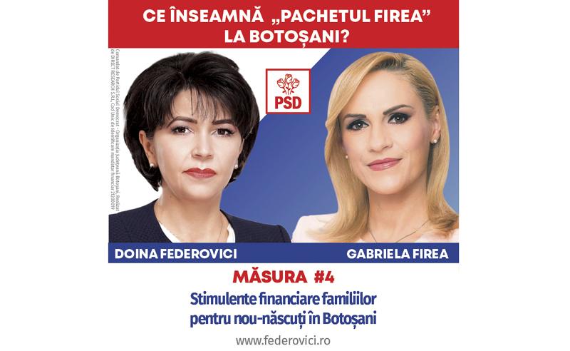 """(P) PSD: Ce înseamnă """"Pachetul Firea"""" la Botoșani? Stimulente Financiare pentru nou-născuți și întemeierea familiilor"""