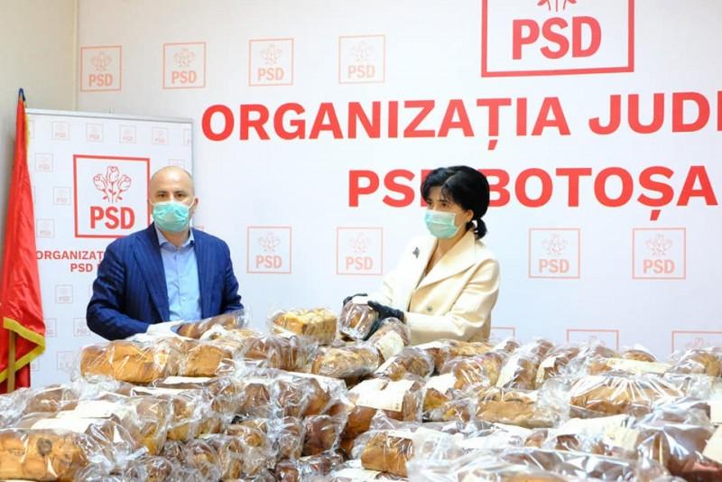"""Pachete cu alimente pentru o mie de botoșăneni, din partea PSD. """"Poate e prea puțin. Dar nu putem să stăm deoparte pentru că, înainte de a fi politicieni, suntem oameni"""""""