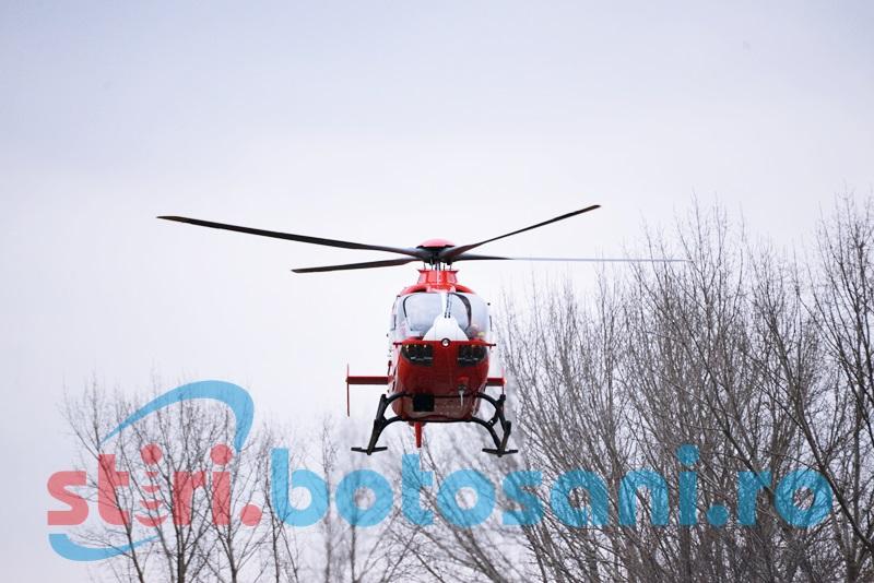 Pacientă cu afecţiune cardiacă, transferată la Iaşi cu elicopterul