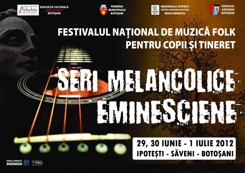 """Pana pe 15 iunie se fac inscrieri pentru Festivalul National de Muzica Folk """"Seri Melancolice Eminesciene"""""""