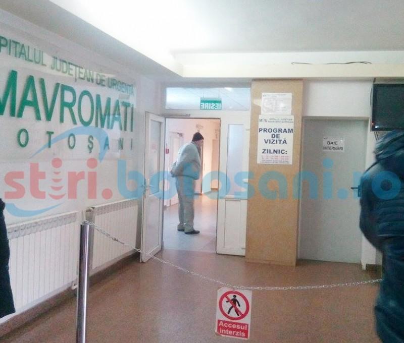Panică la Spitalul Județean din Botoșani: un pacient a venit la Cardiologie cu pistol și briceag (VIDEO)