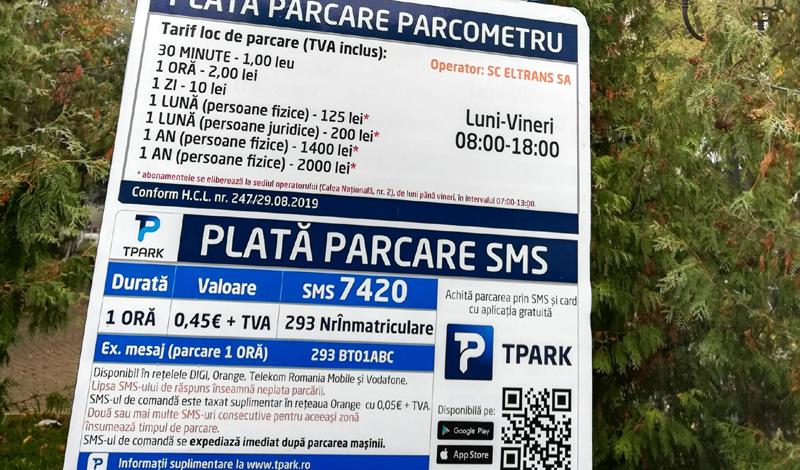 """Parcarea cu plată din zona ,,Parcul Mihai Eminescu"""" va deveni operaţională"""