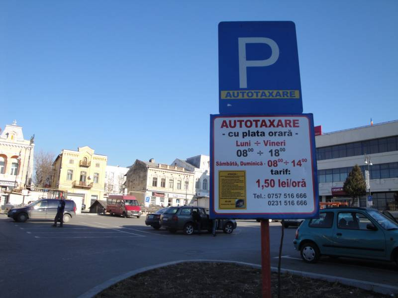 Tarifele din parcările cu plată ar putea fi plătite cu ajutorul telefonului mobil, la Botoșani
