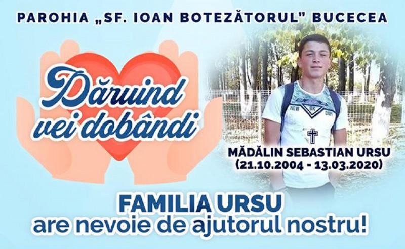 """Parohia """"Sf. Ioan Botezătorul"""" de la Bucecea, apel la botoșăneni pentru ajutorarea familiei tânărului decedat electrocutat"""