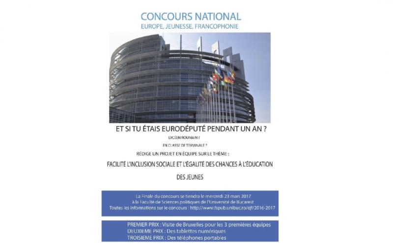 """Participare extraordinara a elevilor din Laurian la concursul """"Europe, Jeunesse, Francophonie"""" 2017"""