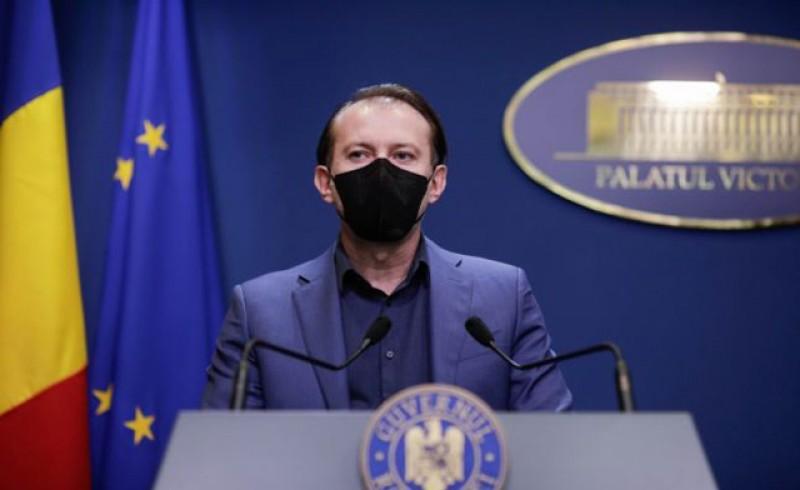 Pemierul Florin Cîţu: Aş vrea să pot mulţumi personal fiecărui om care s-a vaccinat