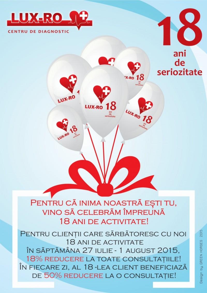 Pentru că inima noastră ești tu, vino să celebrăm împreunã 18 ani de activitate!