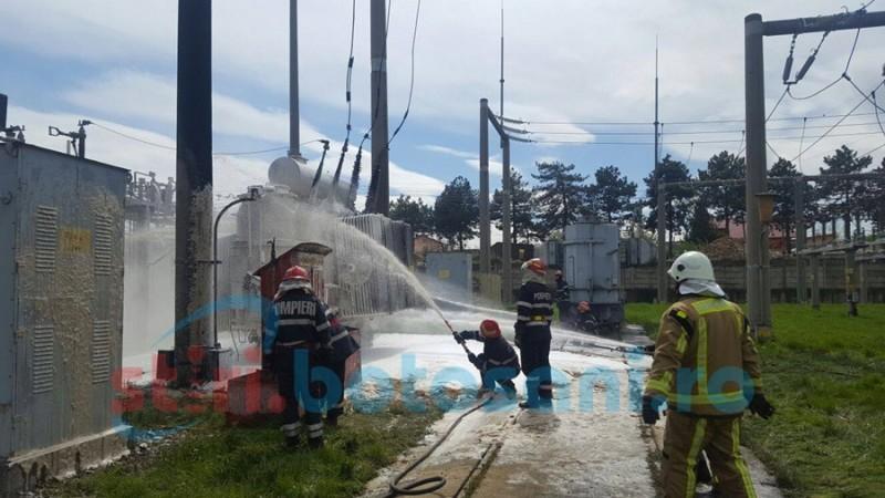 Pericol în Zona Industrială! A fost instituit COD ALBASTRU de intervenţie al IJSU! FOTO- VIDEO