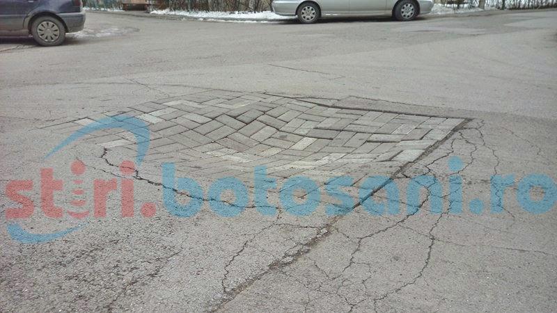Pericol pentru șoferi pe o stradă din municipiul Botoșani! FOTO