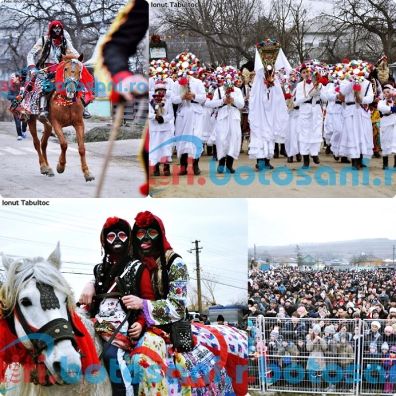 Peste 1.500 de oameni au participat la spectacolul obiceiurilor de iarna de la Tudora - FOTO,VIDEO