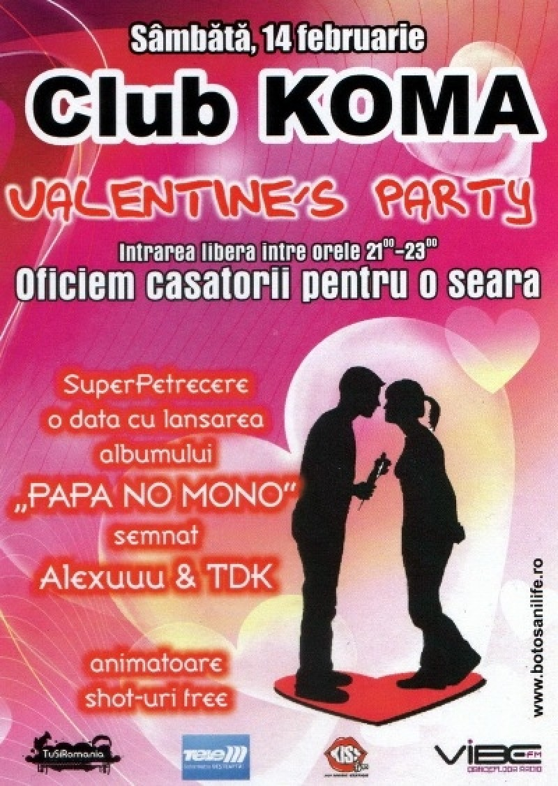 Petrecere de Ziua Indragostitilor, in Club Koma