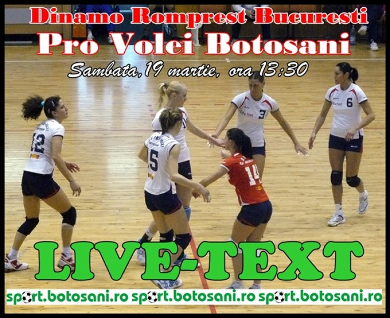 PLAY OFF - Dinamo Bucuresti si Pro Volei Botosani 3-0 (FINAL)