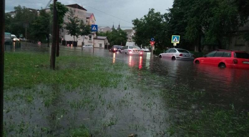 Ploile fac prăpăd în municipiul Botoșani: Străzi și trotuare inundate, mașini blocate, copaci rupți de vânt! FOTO, VIDEO