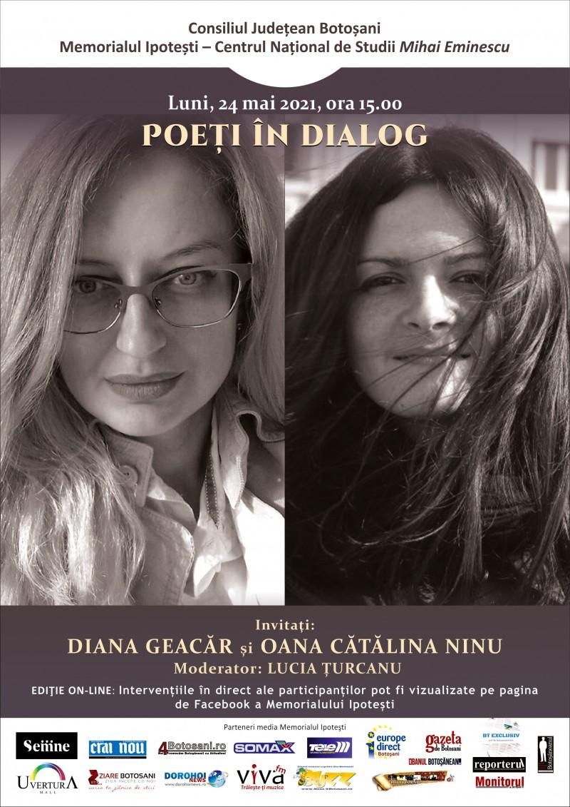 Poeți în dialog la Ipotești: Oana Cătălina Ninu și Diana Geacăr