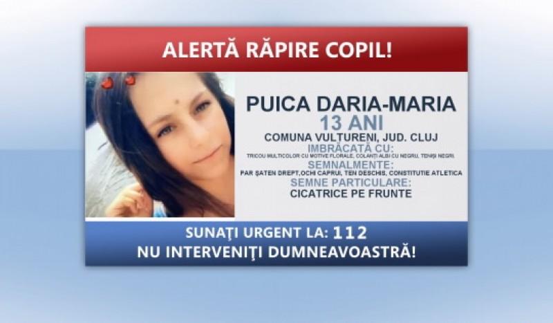 Polițiștii din toată țara sunt în alertă: o fată de 13 ani a fost răpită. Se face apel la cunoștința societății civile