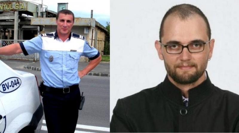 Polițistul Marian Godină îi bate obrazul lui Oreste , după ce acesta a jignit un polițist!