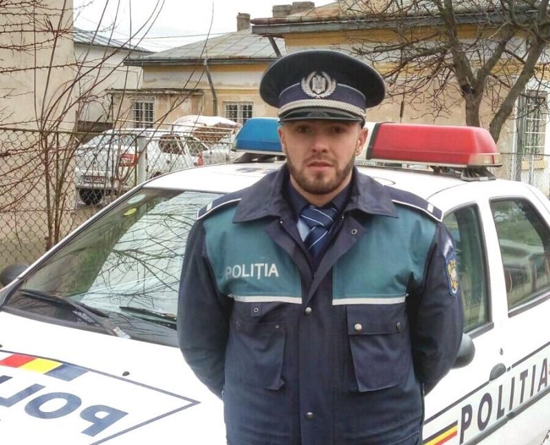 Poliţistul zilei, la Botoşani: A salvat de la moarte un bărbat!