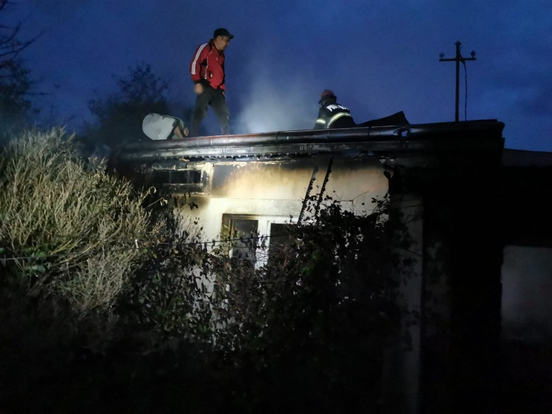 Pompierii acționează în aceste momente la Leorda