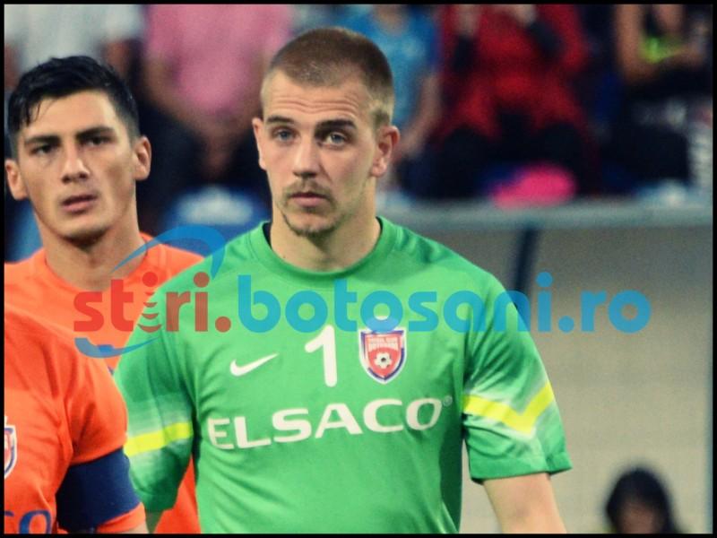 Portarul de la FC Botoşani, rezerva in meciul Croatia - Bulgaria - FOTO
